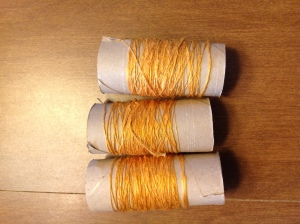 Silk thread to ply later