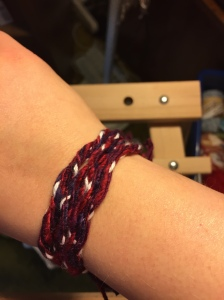 Silk Bracelet on an Inkle Loom1