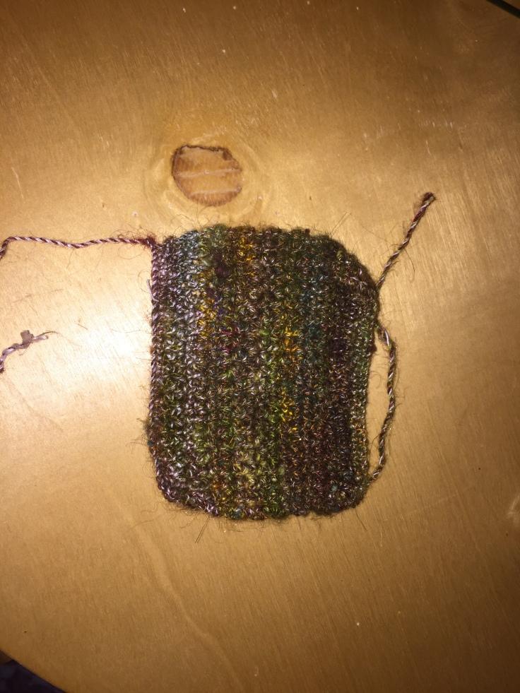 crochet with handspun yarn 2