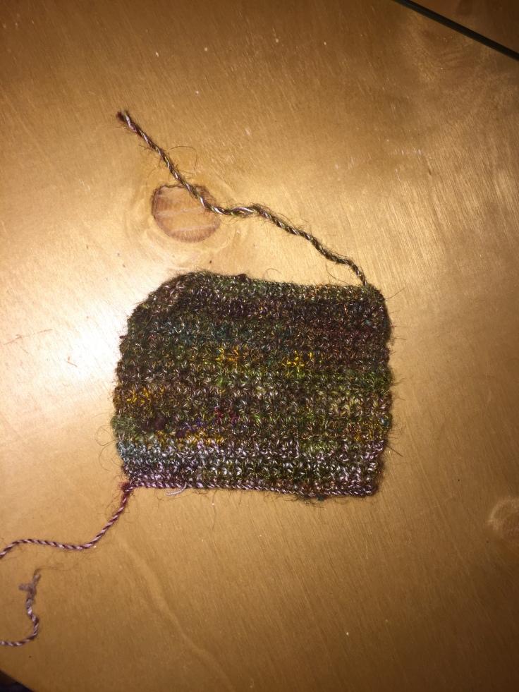 Crochet with handspun yarn