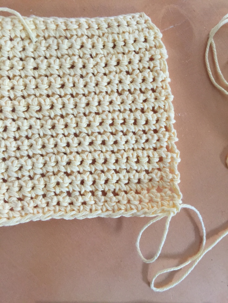 Crocheted washcloth