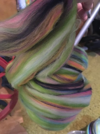 Paradise Fibers monet spin on wrist distaff