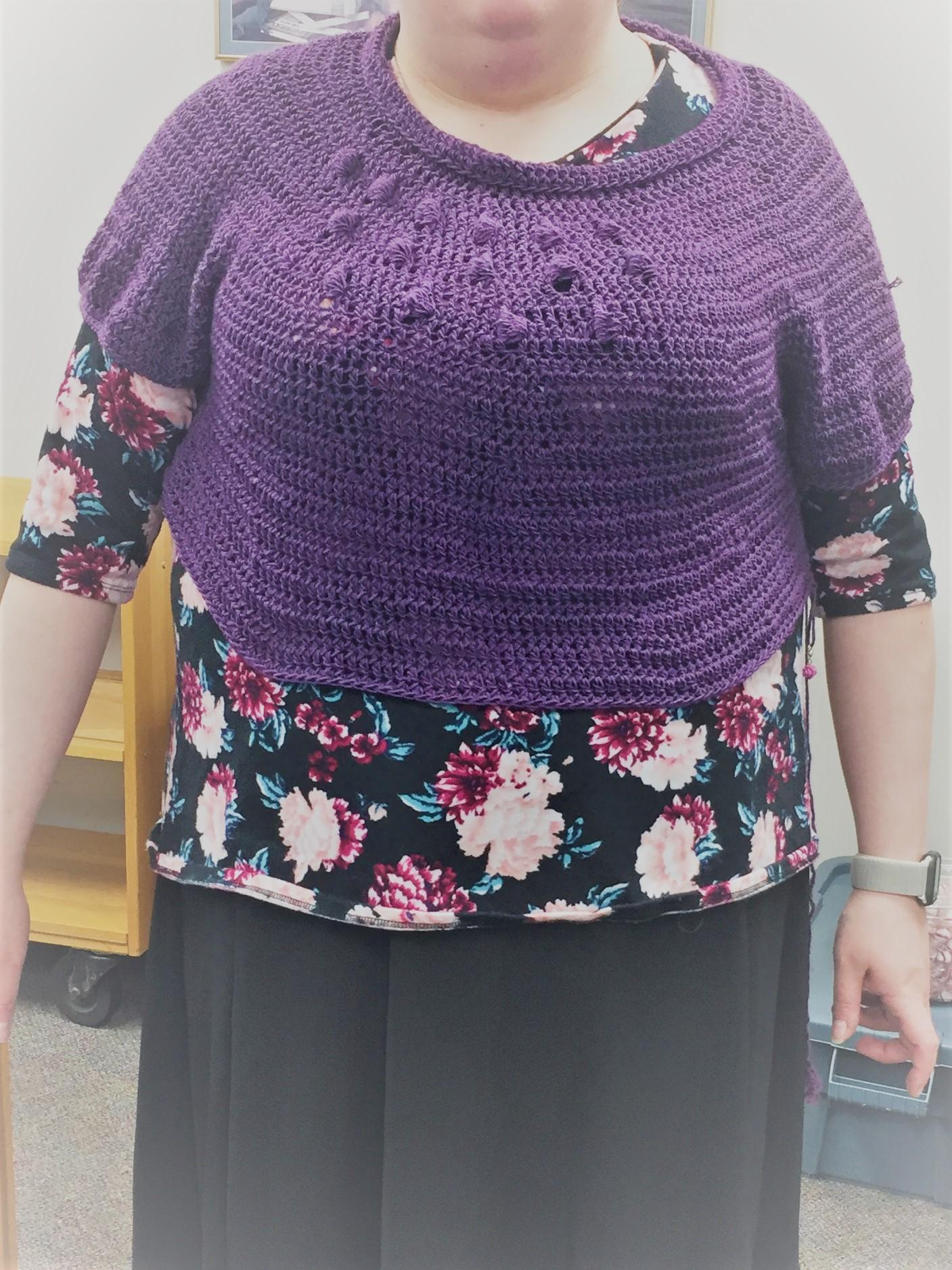 Furls coffee cup sweater progress july 29 2019